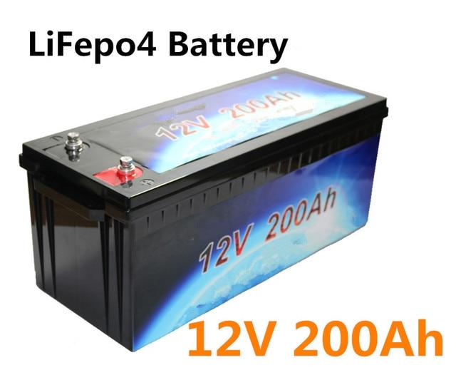 lifepo4 12v 200ah battery pack lithium for motor. Black Bedroom Furniture Sets. Home Design Ideas