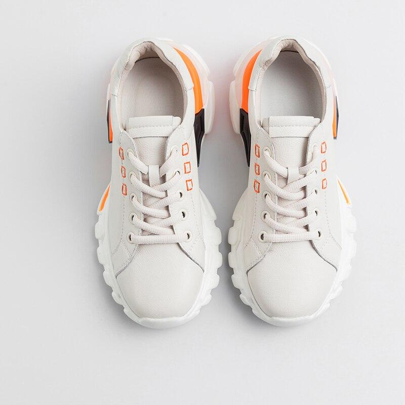 Casual Vaca Cuero Isnom Moda Las Del Zapatillas Dedo Deporte Planos Beige Redondo Zapatos Mujeres negro Plataforma Verano De Pie Calzado Mujer EwrwTqt
