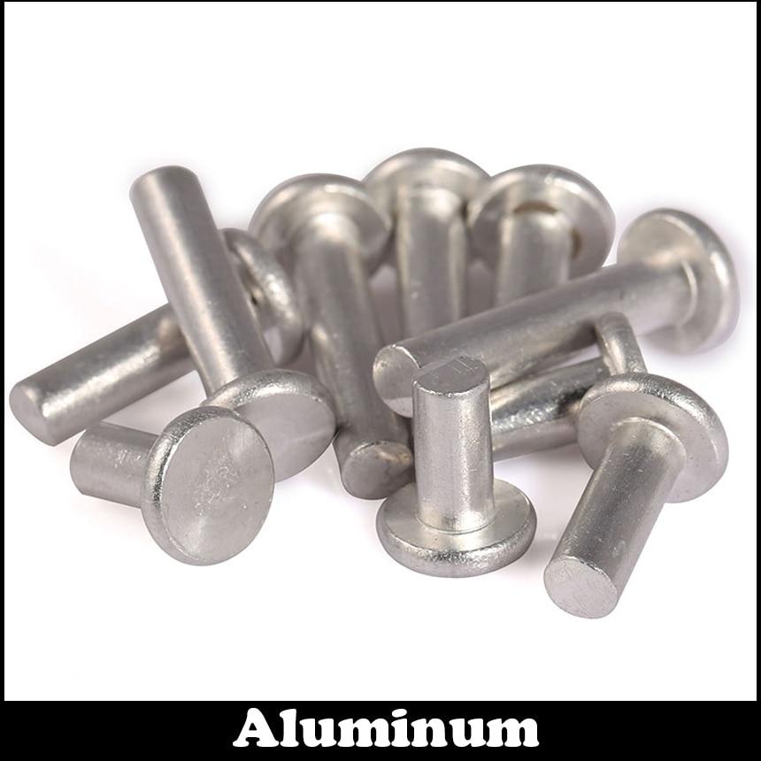 M3 M3*6 M3x6 M3*12 M3x12 Silver Tone GB109 Aluminium Rivets AL Aluminum Knock Flat Head Solid RivetM3 M3*6 M3x6 M3*12 M3x12 Silver Tone GB109 Aluminium Rivets AL Aluminum Knock Flat Head Solid Rivet