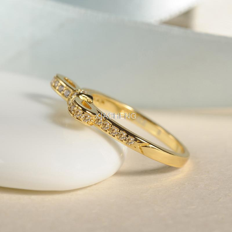 e476b232a ... inexpensive gold butterfly rings compatible with pandora jewelry sparkling  bow clear cz size 6 10 100