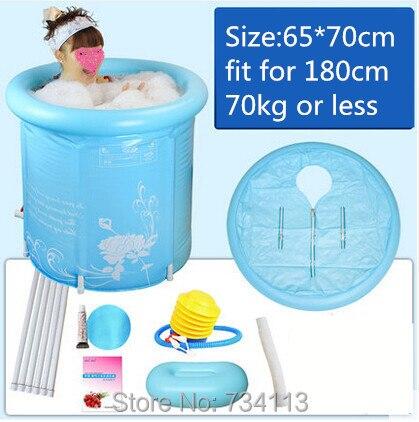 Nafukovací vana Hnědá skládací vana Nafukovací horká voda SPA - Výrobky pro domácnost