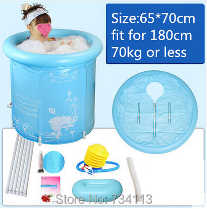 Inflatable bath Thickening Folding Bathtub Adult Inflatable Hot Tub Baby and Children Tub Metal Tubs 3 Styles Pink Blue