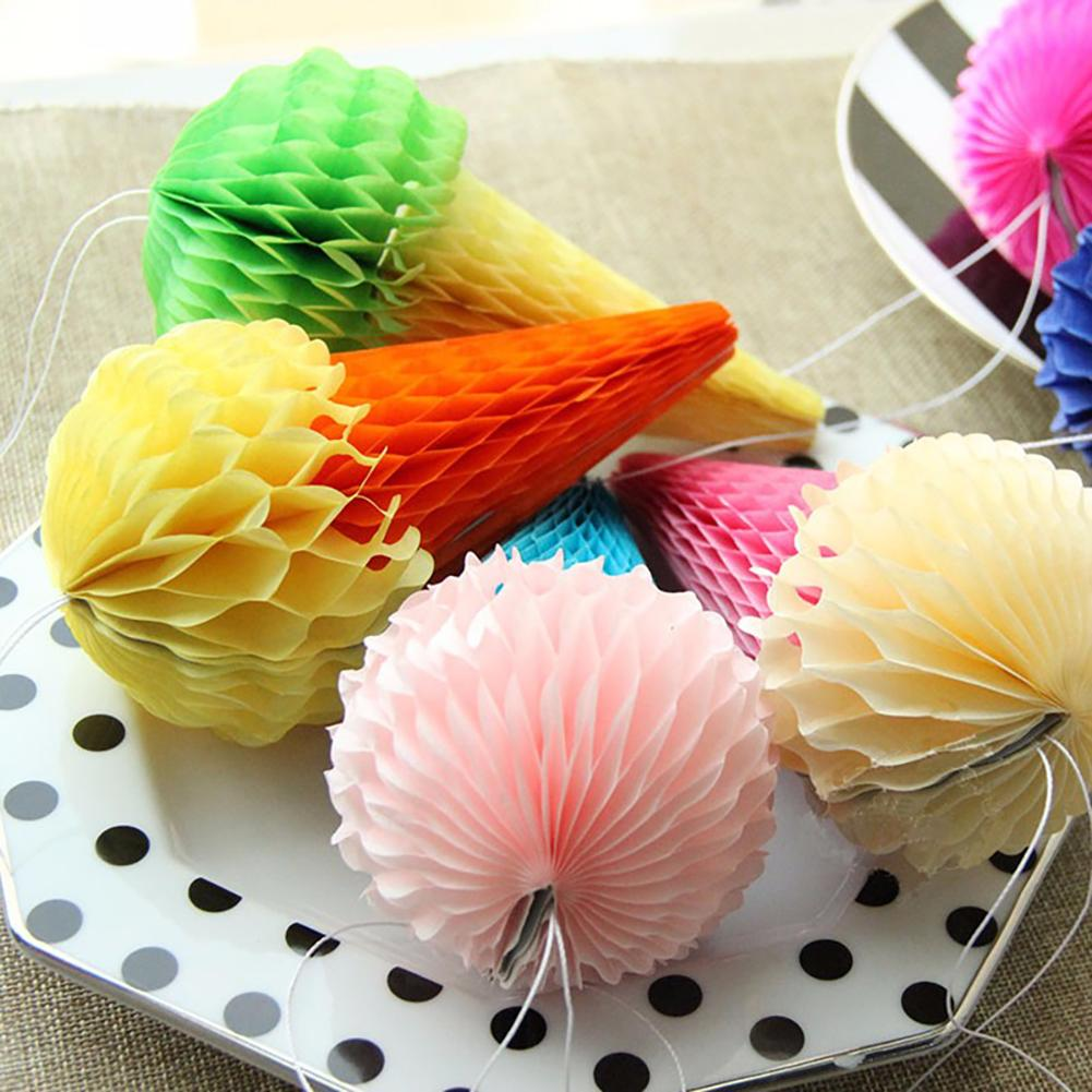 Ice cream ornaments - 2pcs 8inch Honeycomb Balls Ice Cream Decoration Paper Ball Party Supplies Birthday Party Tissue Paper Ball