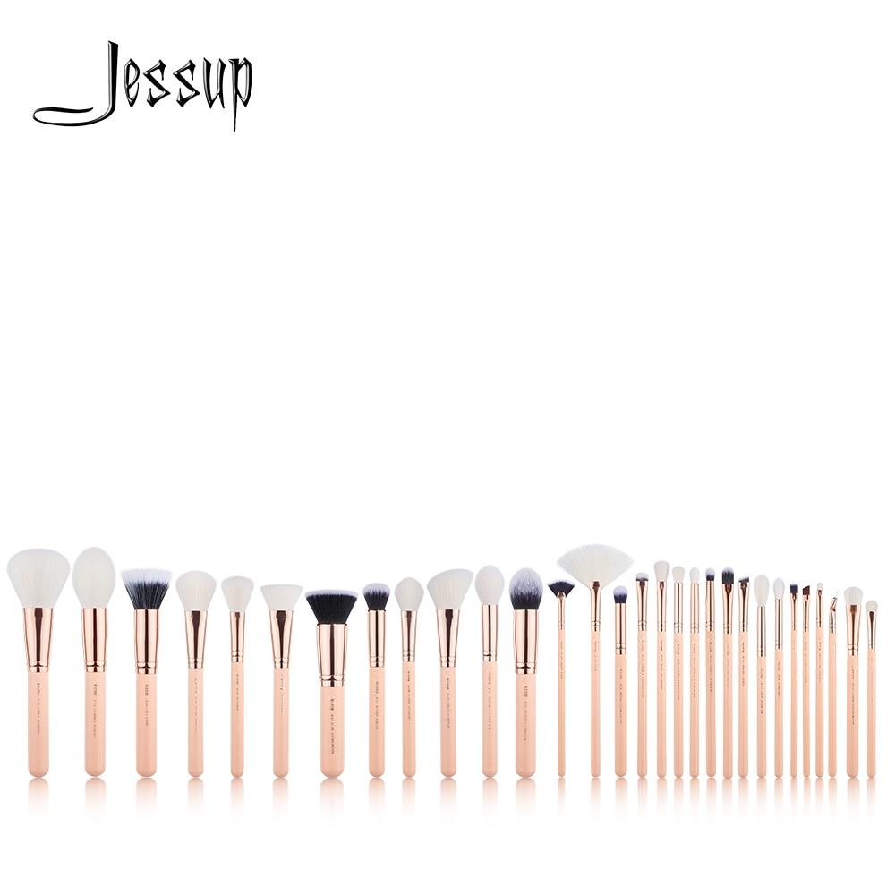 New Jessup brushes 30pcs Makeup Brushes Set maquiagem profissional completa Powder Eyeshadow Concealer Blending Brushes T440 jessup brushes 8pcs makeup brushes tools makeup cosmetics brush kit blending eyeshadow eyeliner brow concealer t091