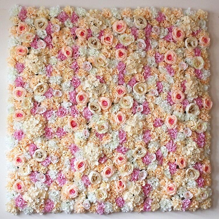 Artificial flower wall Arch door lintel flower silk rose wedding background decoration lawn/pillar Road lead flower 10pcs/lot
