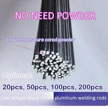 20pcs 2mm*50cm Aluminum Welding Wire Low Temperature Flux Cored No Need Aluminum Powder Instead Of WE53 Copper And Aluminum Rod