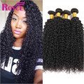 Brazilian Kinky Curly Virgin Hair 4Bundle  Aliexpress Brazilian Hair Curly Weave Human Hair Braailian Water Wave Wet And Wavy