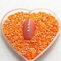 2mm ss6 5000 unidades/pacote resina geléia de strass não hot-fix orange pedra ab para diy nail art gemas