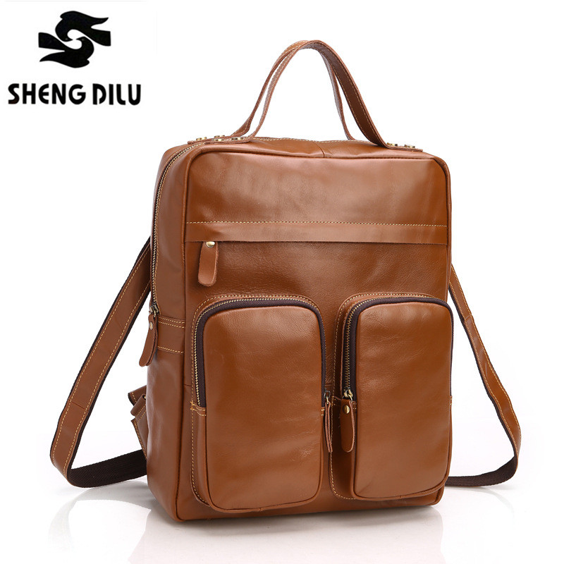 Famous Brand Vertical Casual Business Genuine Leather Men Handbag Luxury Italy Design Men's Shoulder Bags Crossbody Travel Bag