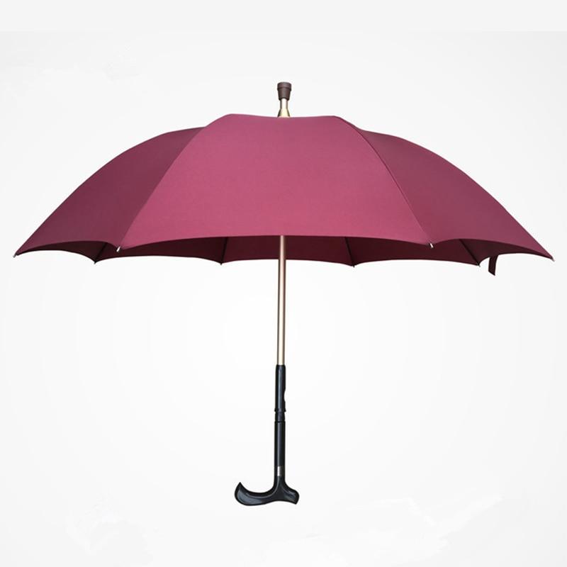 Homme parapluie créatif canne escalade parapluie Long manche anti-dérapant marche bâton mâle coupe-vent parapluies pluie Gear Tous Mujer XX