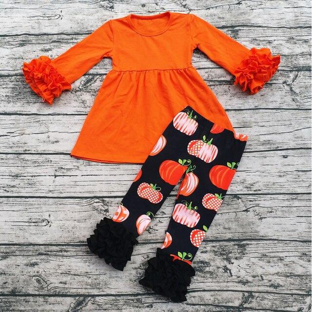 98bae655ab44 Fall Kids Clothing Sets Baby Halloween Pumpkin Clothes Set Halloween ...