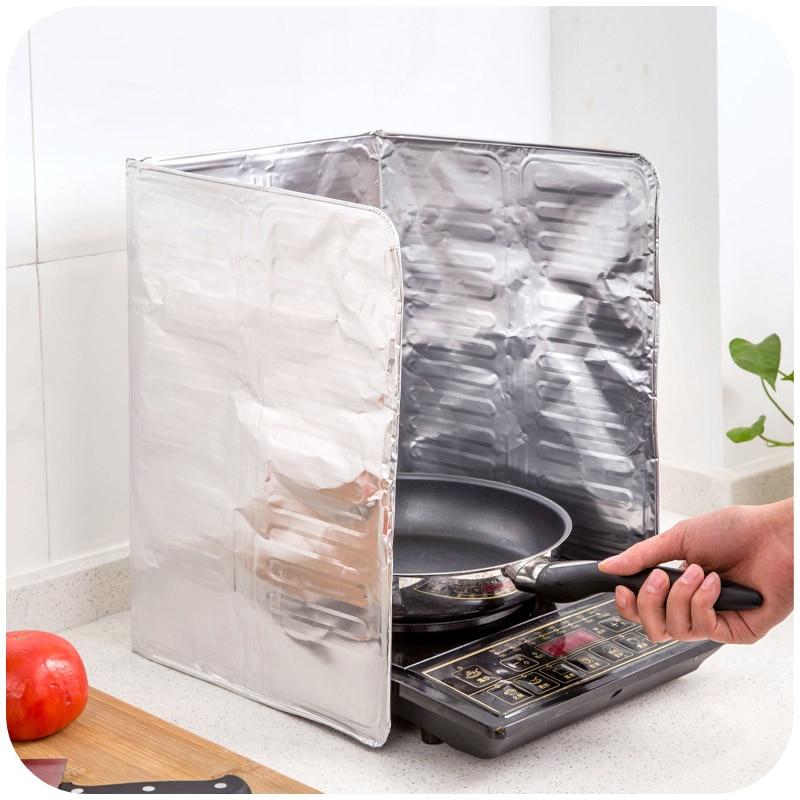 Kitchen Oil Splatter Guard Gas Stove Splash Guard Nonstick Cooker Shield  Removal Aluminium Foil Scald Proof Board Housware Tool On Aliexpress.com |  Alibaba ...