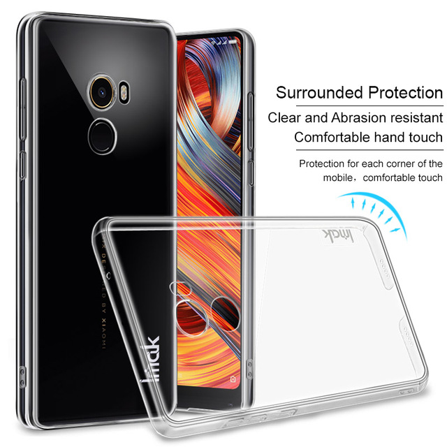 huge selection of 88f87 5eade IMAK Crystal Case Transparent Durable PC Hard Case Cover for Xiaomi Mi Mix  2 Back Cover for Xiaomi MiMix 2 Mix 2 Clear Case