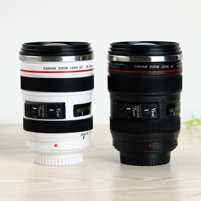 400 ml Unique Camera Lens Drinking Glass