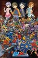 LBX Collage Little Battlers Experience Art Silk Poster Print 24x36inch