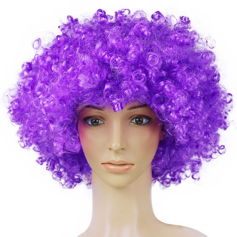 Synthetic Performance Hair Wavy Round Clown Wig Hair Statement Fans Wig Peluca Cosplay Hair For Christmas
