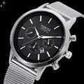 North 2016 relógio marca de luxo homens relógio de pulso casual aço completa negócios relógios de quartzo esporte militar relogios masculinos xfcs