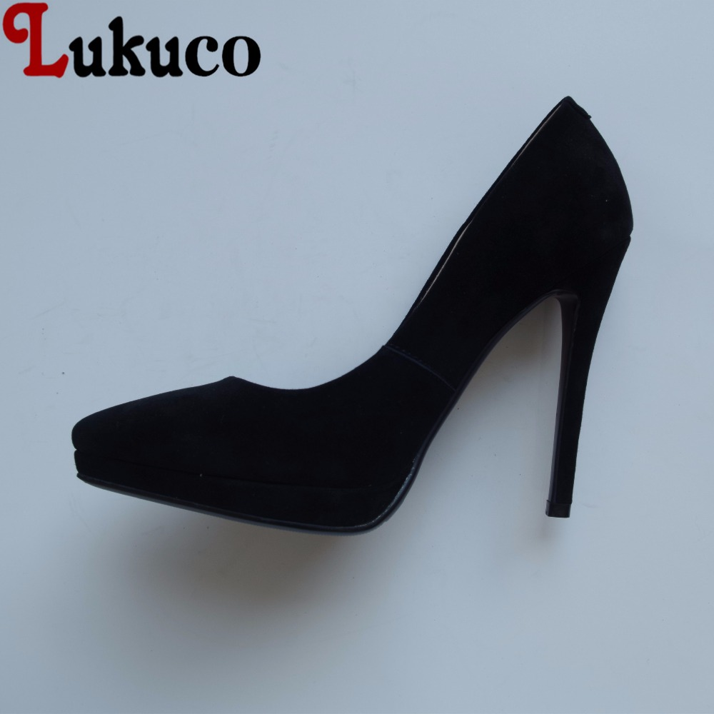Lukuco sexy pure color women pointed toe party pumps microfiber made super high thin heel shoes with pigskin inside lukuco pure color women mid calf boots microfiber made buckle design low hoof heel zip shoes with short plush inside