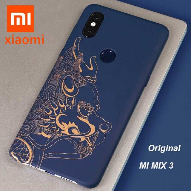 """อย่างเป็นทางการXiaomi Mi Mix 3 กรณี (4G) mix3 Beast Limited EditionปกหลังOriginal Xiaomi Mi Mix3 เต็มรูปแบบ 6.39"""""""