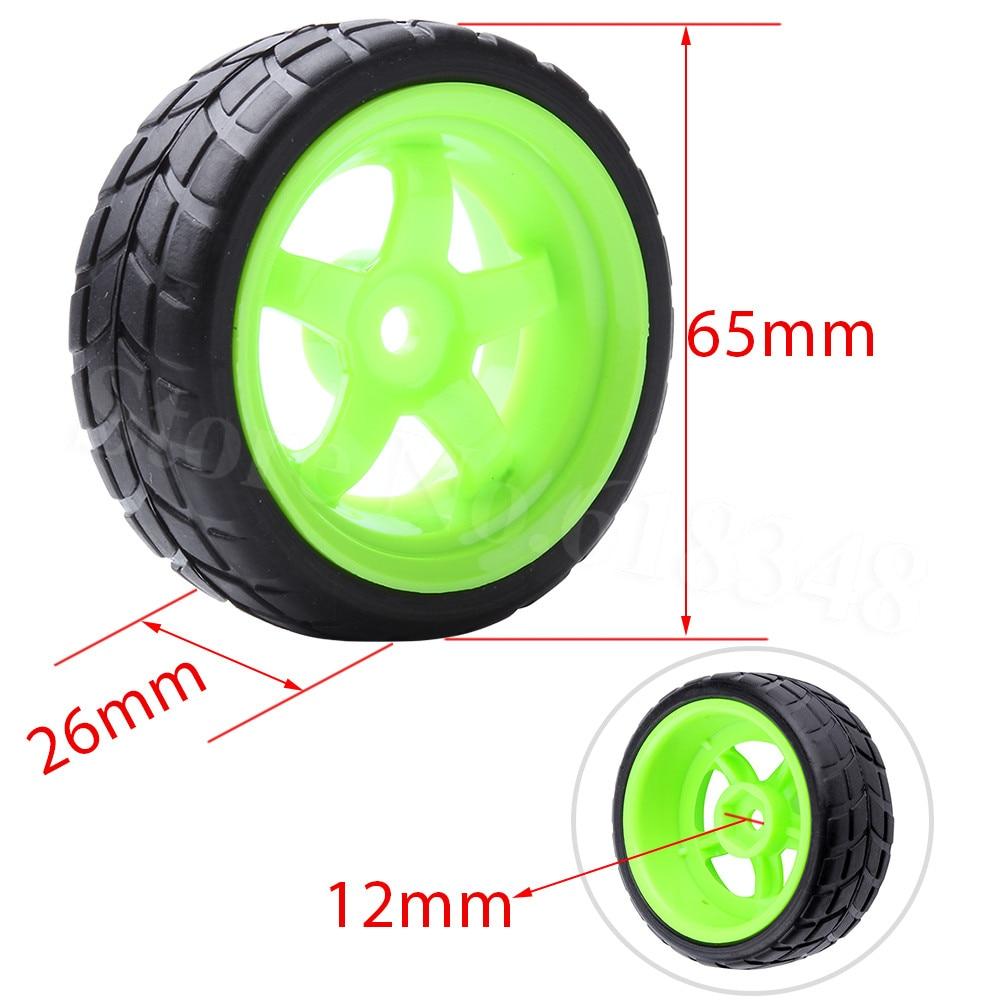 4 Unids / lote RC Neumáticos Ruedas 26mm Hexagonal 12mm Con Nylon - Juguetes con control remoto - foto 2