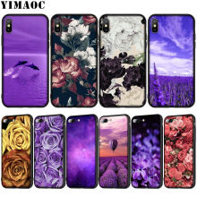 Yimaoc Infinity Di Rose Bunga Lavender Lembut Silicone Ponsel Case untuk iPhone XR X XS Max X 6 6S 7 8 PLUS 5 5S SE Cover(China)