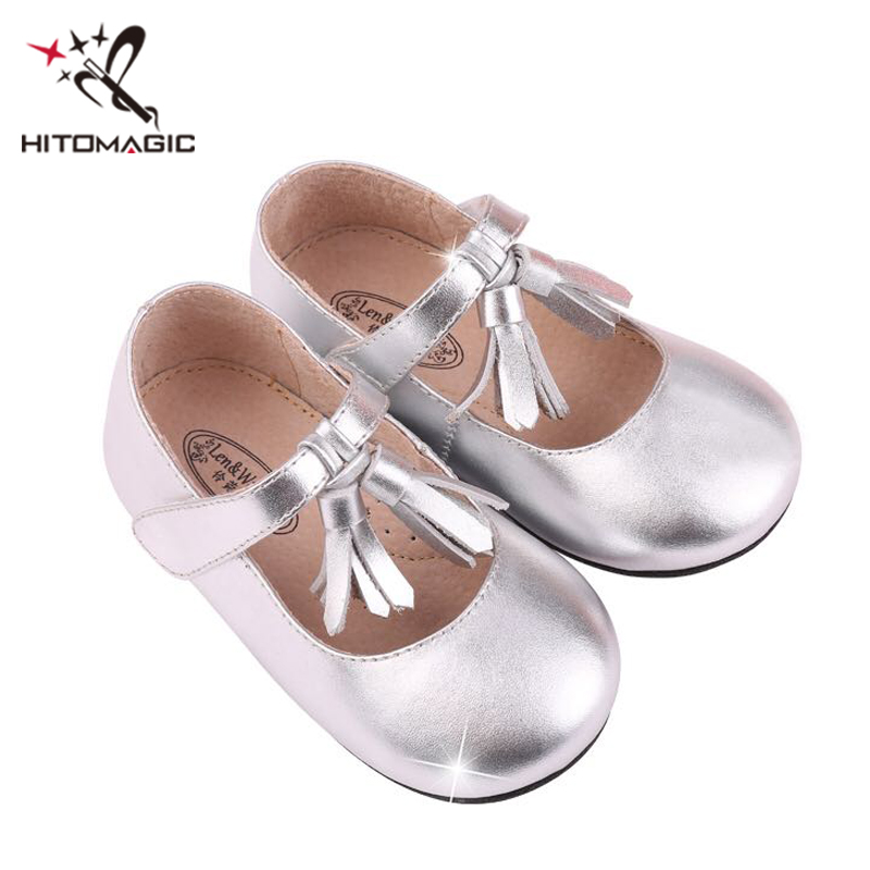 HITOMAGIC Baby Shoes Girls Leather Toddler Summer Footwear With Tassel Princess Girls Shoes For Kids Brand Moccasins Breathable