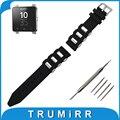 24mm caucho de silicona watch band + herramientas para sony smartwatch 2 sw2 correa correa de reemplazo correa de muñeca bracelt negro