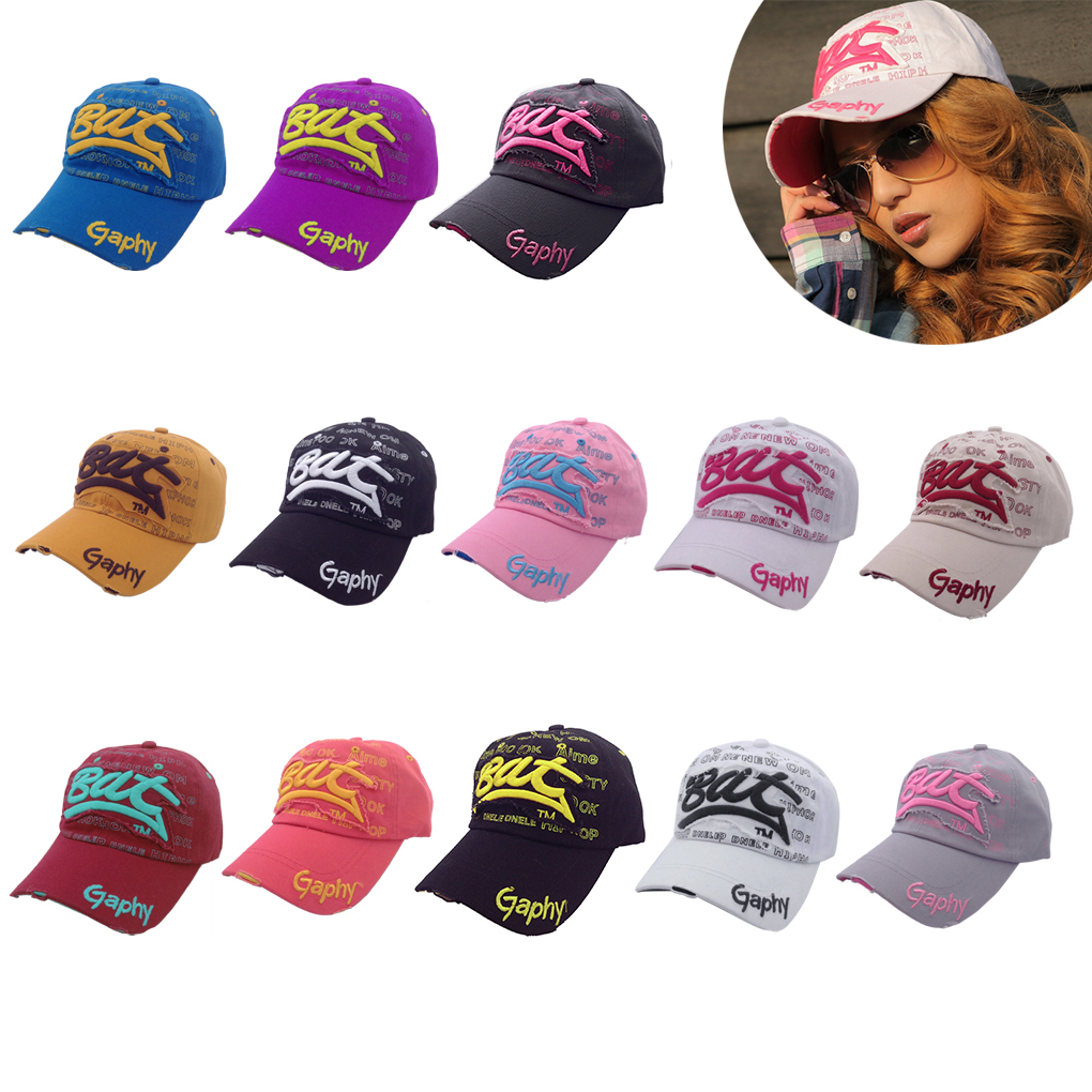 13 colors wholesale Cotton Men's Women'S Hip Hop Hat letter Bat unisex   baseball     cap   Curved Brim Hats Damage   cap