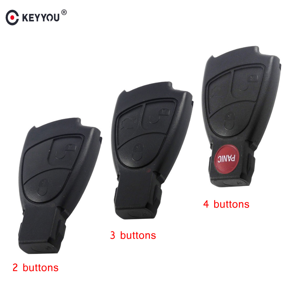 KEYYOU Replacements 2/3/4 Buttons Remote Car Key Fob Case Cover Shell For Mercedes Benz B C E ML S CLK CL Smart Key