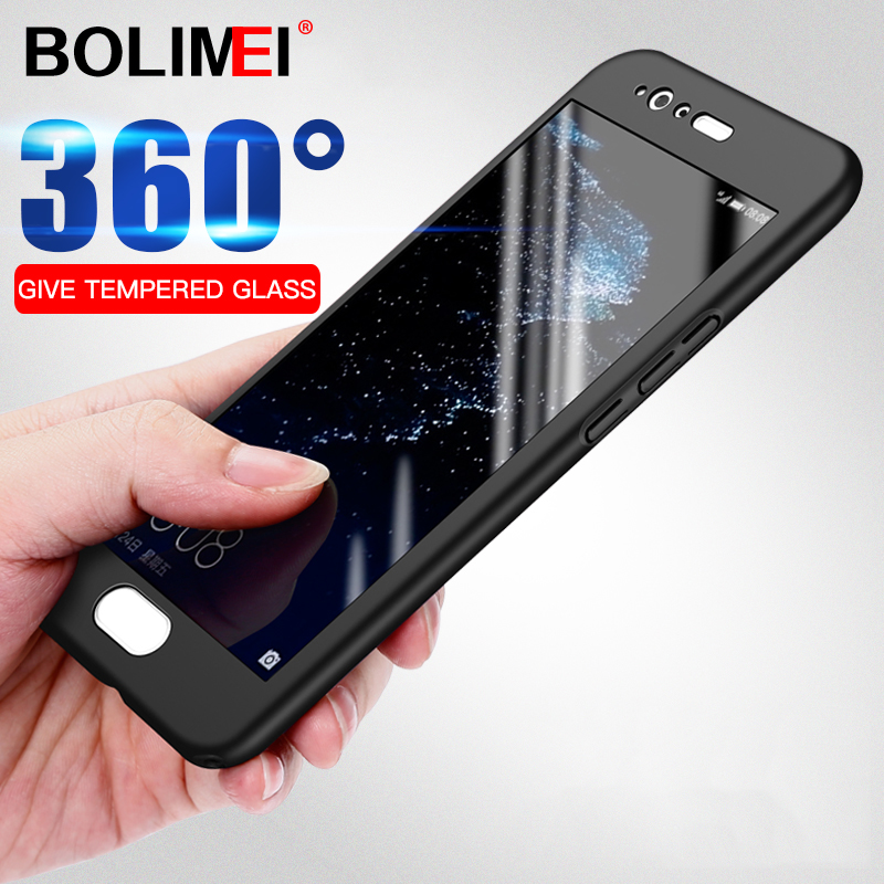 360 Degree Phone <font><b>Case</b></font> For <font><b>Huawei</b></font> P20 Pro <font><b>P10</b></font> Plus P9 <font><b>P10</b></font> P20 Lite PC Full Cover <font><b>Cases</b></font> For Honor 9 lite 9i 10 <font><b>Case</b></font> With <font><b>Glass</b></font> image