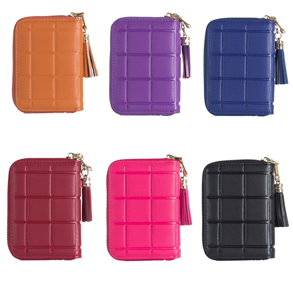 Coin Wallet Female Purse for Women Mini Small Bag Genuine Leather Short Multi-functional Card Pocket Famous Design RFID Gifts wallet