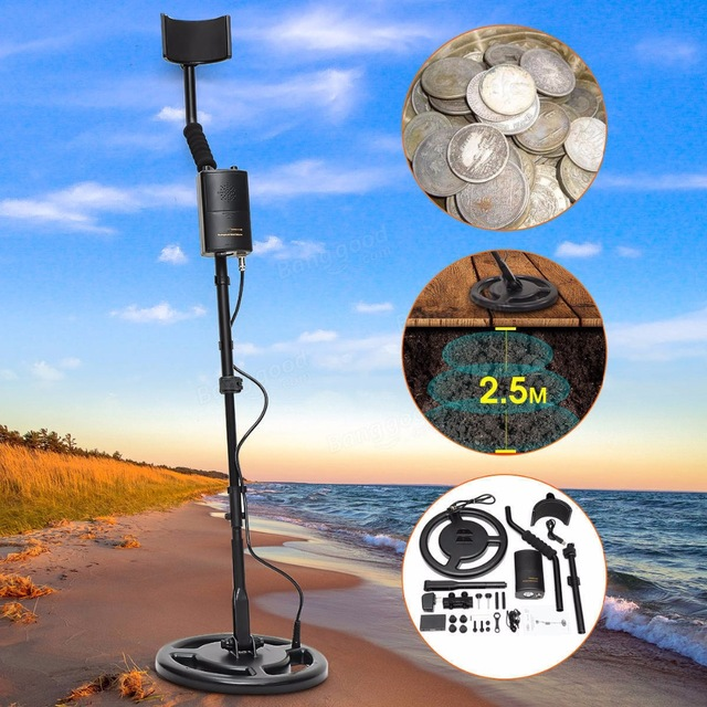 AS944 Underground Metal Detector Professional  Long Range Gold Digger Kit Treasure Finder Hunter Search Gem Detection Depth 2.5M