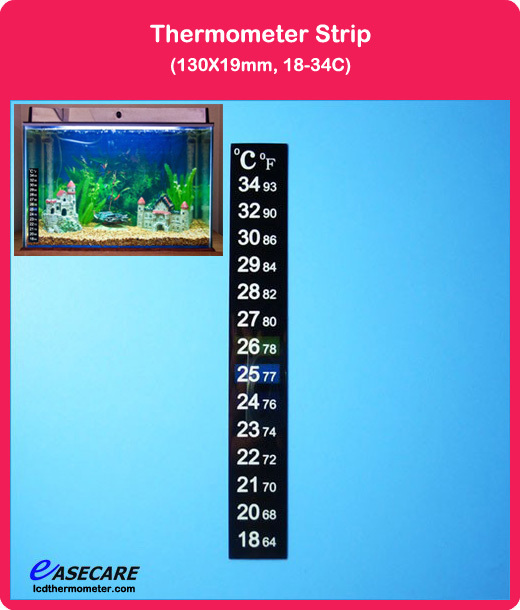 aquarium digital thermometer with thermometer strip and lcd aquarium thermometer