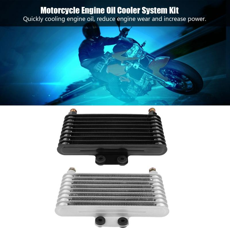 US $65 5 22% OFF|125ml Oil Cooler Engine Oil Cooling Radiator System Kit  for Honda GY6 100CC 150CC Engine Motorcycle Oil Cooler New Arrive-in Engine