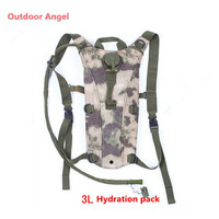 Outdoor Angel Army 3L Hydration Water Backpack Bladder Bag Water Hydration Pack Container For Hiking Cycling