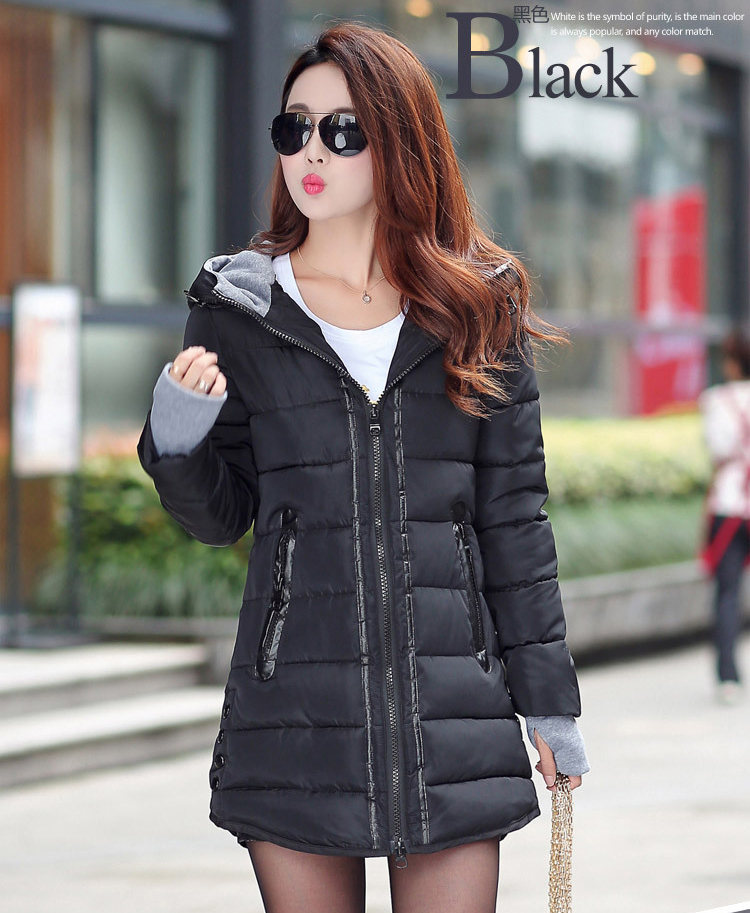 HTB1.zMqXBUSMeJjy1zjq6A0dXXaP 2019 women winter hooded warm coat slim plus size candy color cotton padded basic jacket female medium-long  jaqueta feminina