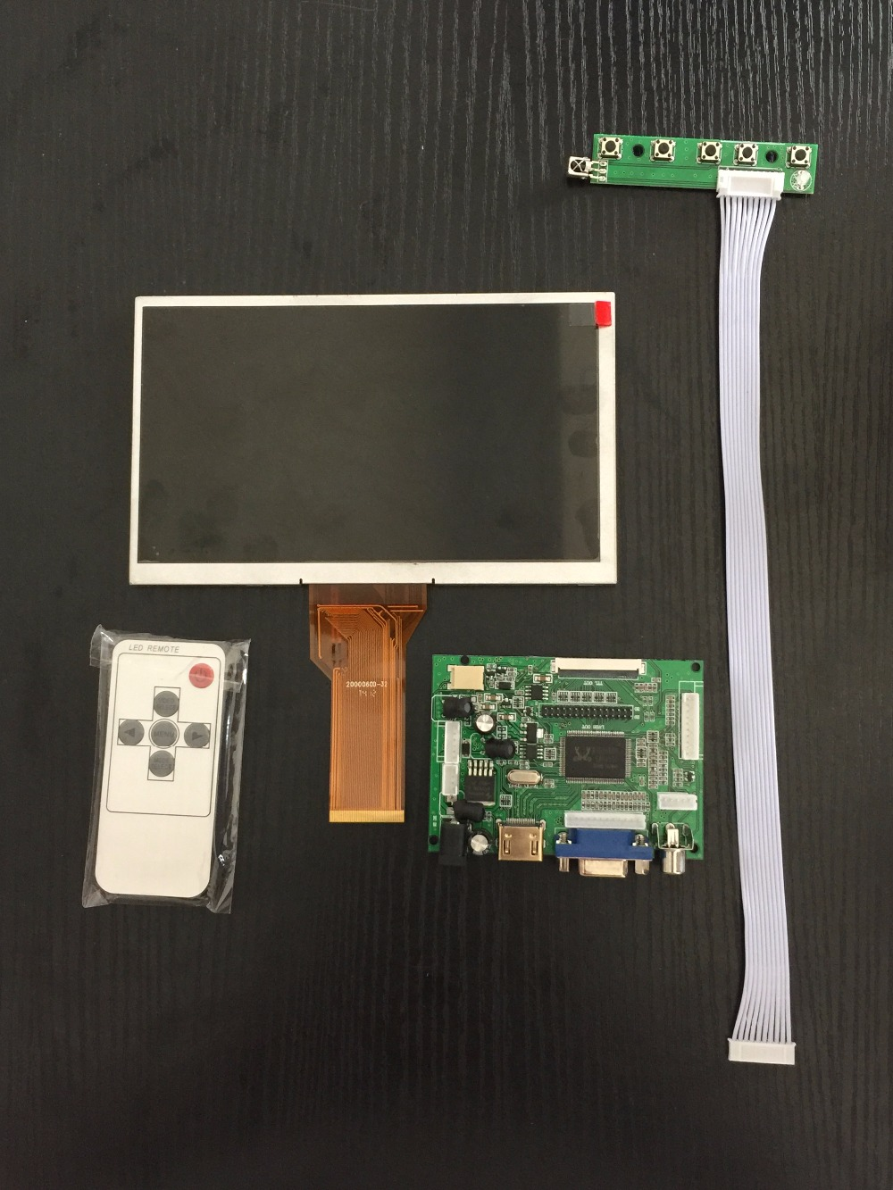 7 Inch for Banana Pi LCD Display Screen with HDMI VGA AV Drive Board controller board