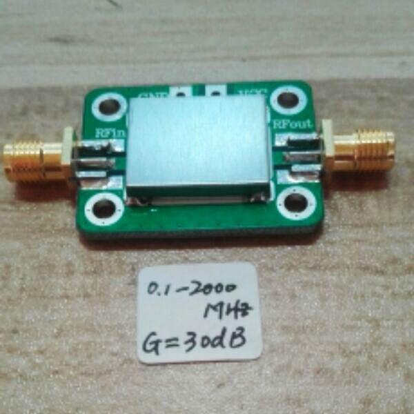 Gain LNA 0.1-2000 MHz: récepteur de Signal amplificateur RF à large bande 30dB pour Radio FM HF VHF/UHF