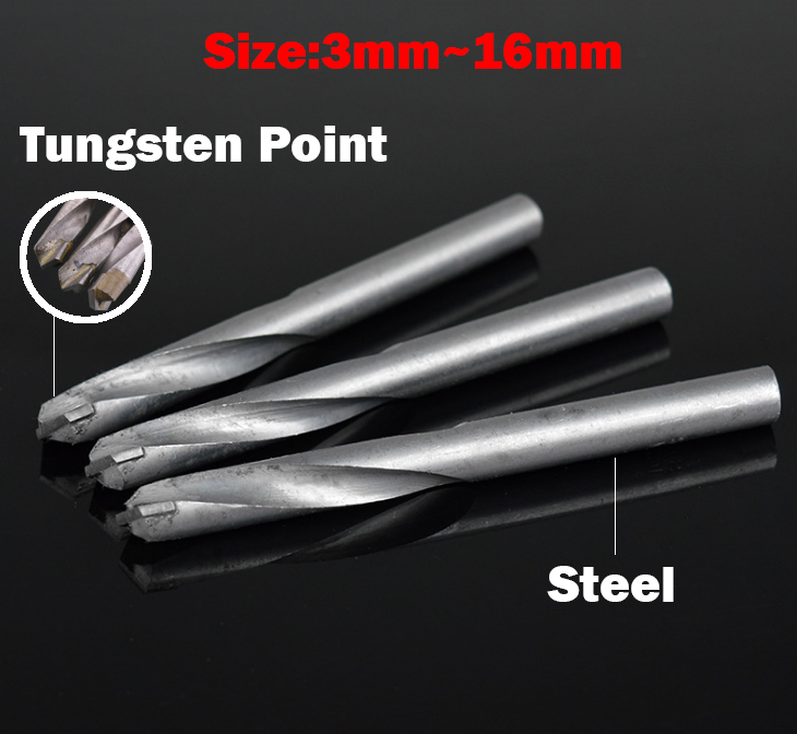 10mm 11mm 12mm 13mm 14mm Nonferrous Metal Concrete YG8 Tungsten Steel Hard Alloy Carbide Point Straight Shank Twist Drill Bit special hard concrete nails wall paintings nail