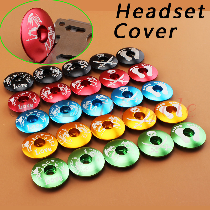 MUQZI Cykel Headset Cover Skål Cover Ultra Ligh Headset Front Lid MTB Road Bike Fixed Gear Folding Cykel Track Bike