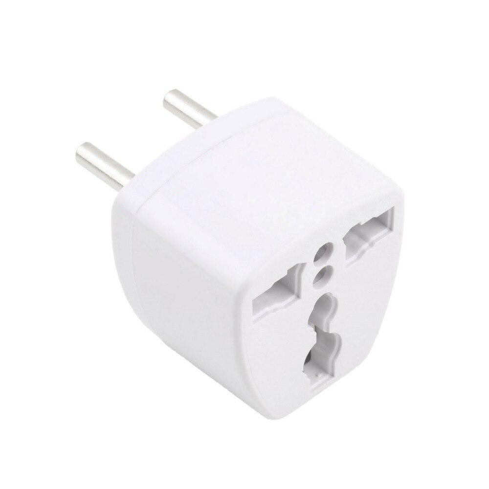 1pcs Universal US AU UK to EU Plug Travel Wall AC Power Adapter Wholesale