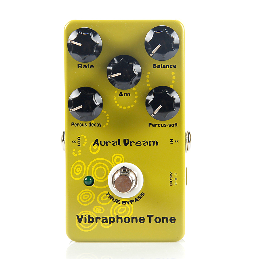 Aural Dream Vibraphone Tone Synthesizer Guitar Effects Pedal True Bypass Effect Pedal Guitar Accessories true bypass looper effect pedal guitar effect pedal looper switcher true bypass guitare pedal mini light blue loop switch