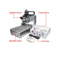 Russia No Tax 3020T D300 MINI CNC Engraver For Wood Metal Cutting With 300W Spindle Motor