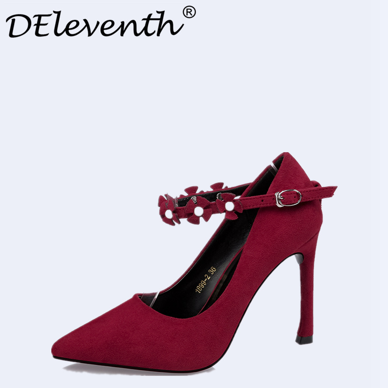 Shoes Woman 2017 High Heels Ladies Pumps Sexy Thin Heels Footwear Flower Women Shoes Zapatillas Mujer Sapato Feminino chaussure genuine leather excellent sexy high heels brand women pumps ladies shoes woman chaussure femme zapatos mujer sapato feminino