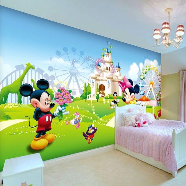 Belle Mickey et Minnie Photo Papier Peint 3D Mur Papier Peint de ...