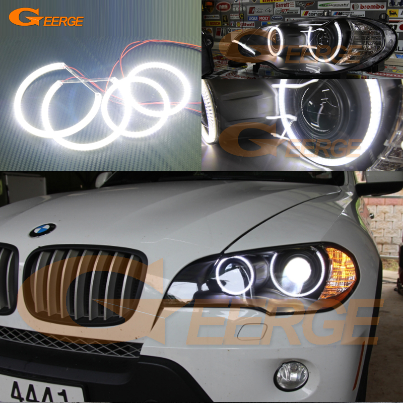 For BMW X5 e70 2007 2008 2009 2010 2011 2012 2013 Xenon headlight Excellent Ultra bright illumination smd led Angel Eyes kit for land rover freelander lr2 2007 2008 2009 2010 xenon headlight excellent ultra bright illumination smd led angel eyes kit