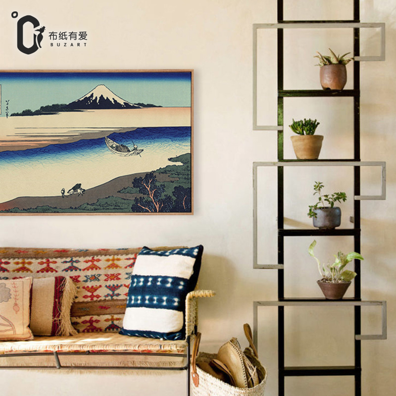 მთის ტილო იაპონური ukiyoe - სახლის დეკორაცია - ფოტო 3