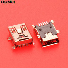 cltgxdd 5pin Mini USB jack charging port connector USB socket Replacement part For MP3 MP4 GPS PS3 Wireless Controller Joypad 5P(China)