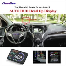 Liandlee Car HUD Head Up Display For Hyundai Santa Fe 2016-2018 Digital Speedometer Fuel Consumption Projector Screen Detector