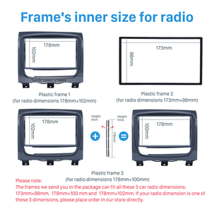 Image 4 - ซีเทอร์ UV สีเทาคู่ Din วิทยุรถยนต์สำหรับ FIAT STRADA DVD แผงติดตั้งเครื่องเสียงรถยนต์กรอบ